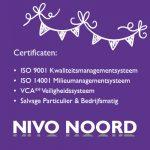 ISO-9001, ISO-14001, VCA** en Salvage
